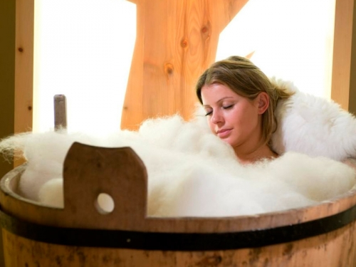 bagno di lana,cure cellulite,reumatismi